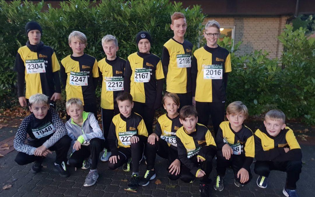 D-Jugend beim Verler Citylauf